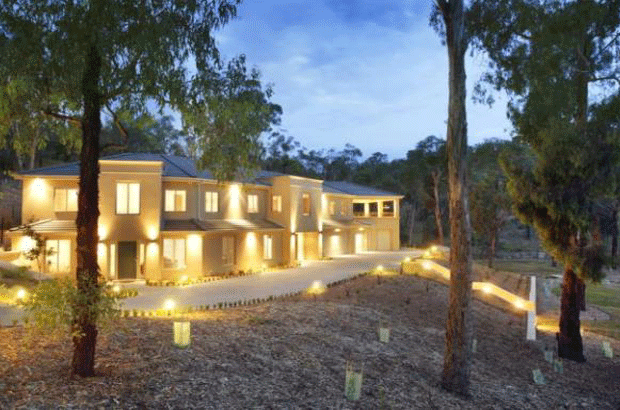 Exterior of new home build in Warrandyte